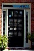 Decorative residential door install.